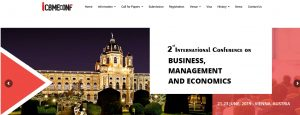 THE 2nd INTERNATIONAL CONFERENCE  ON BUSINESS, MANAGEMENT AND ECONOMICS